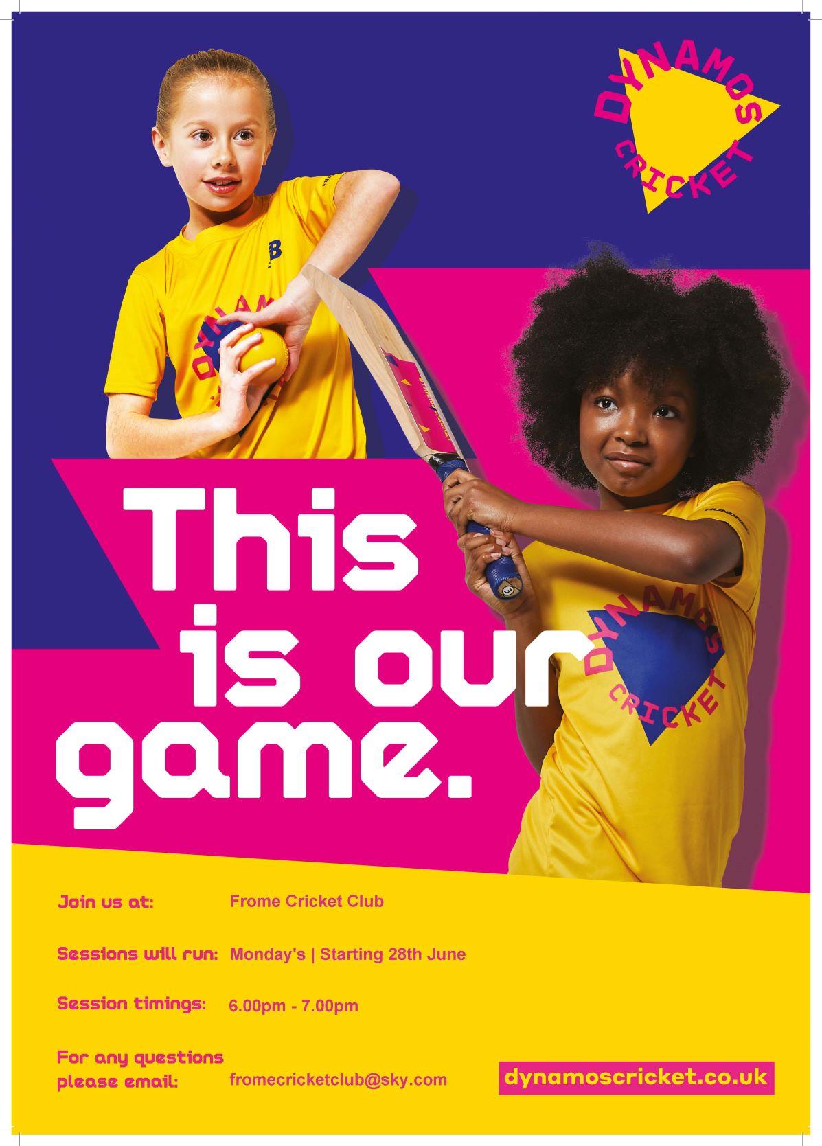 Girls Dynamos cricket starting soon!